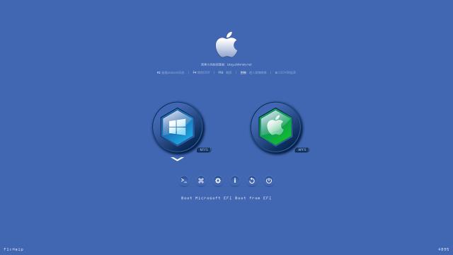 clover主题之蓝色纯背景机器图标