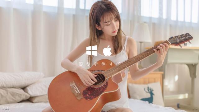clover主题之简约吉他美女